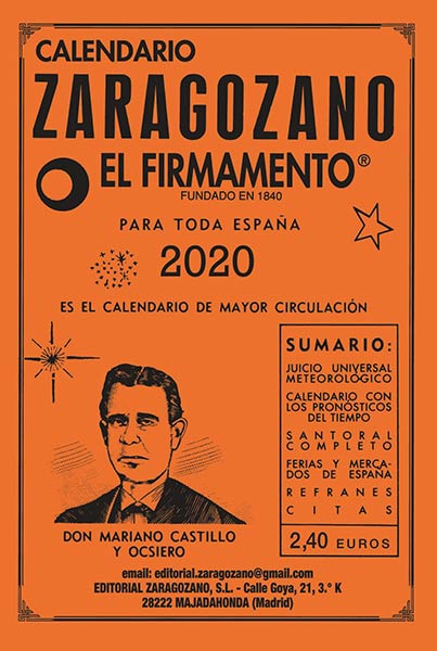 Calendario Zaragozano 2020.Calendario Zaragozano 2020 Distribuciones Cimadevilla