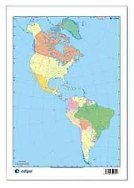 Mapa Mudo America Politico 50u Pack Distribuciones Cimadevilla