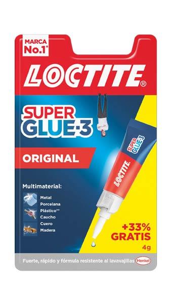 Pegamento 3gr super glue 3 36 4 expositor for Super glue precio