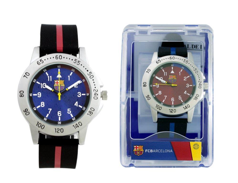 Reloj pulsera caballero barcelona raya roja o azul correa ... b682dde4b30